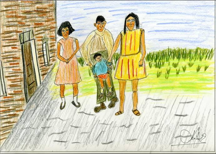 Dibujo de familia rural  Imagui
