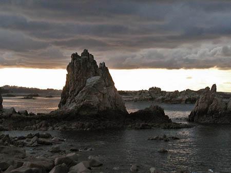Etrange coucher de soleil sur Pors-Scaff